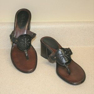 Cole Haan Leather Sandals Made In Brazil Size 7